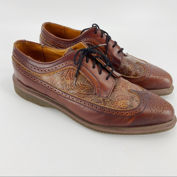 Dr Martens tredair tooled Oxford shoes brown